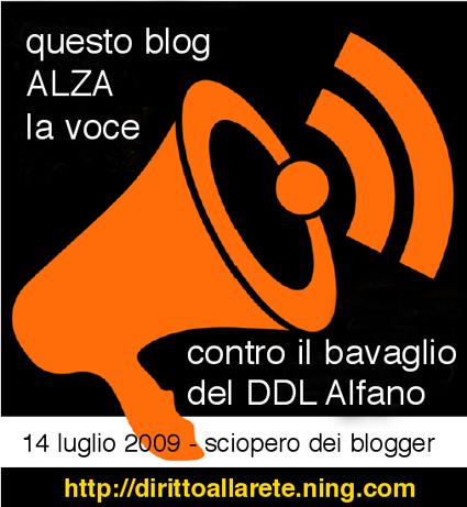 logo contro il bavaglio del decreto Alfano