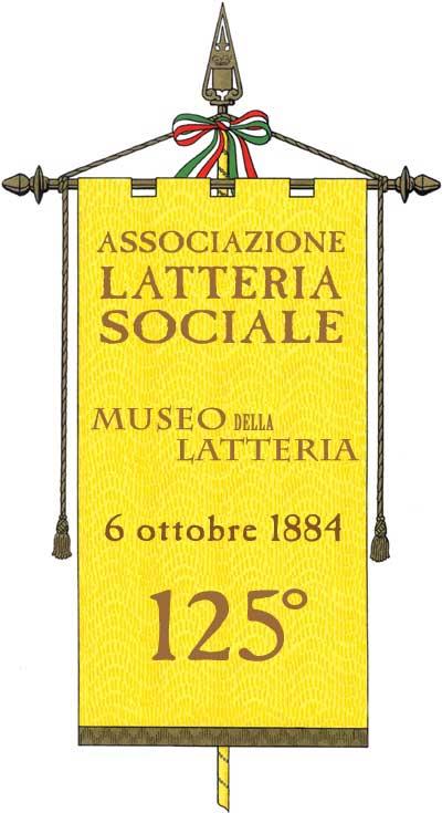 rappresentazione gonfalone per la celebrazione dei 125 anni di vita della Latteria Sociale