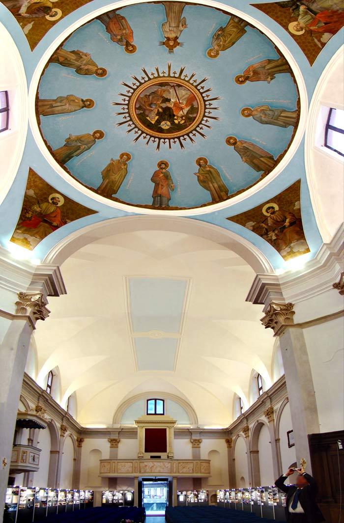 Panoramica interna ex chiesa parrocchiale di San Lorenzo, ora auditorium