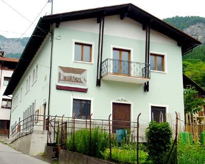 Il museo della latteria di Lozzo di Cadore - facciata esterna