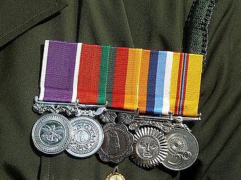 immagine di medaglie appuntate sul petto