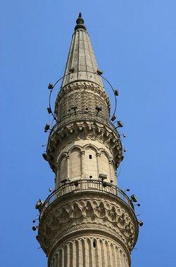 immagine del minareto della moschea El-Hussen, a Khan el-Khalili