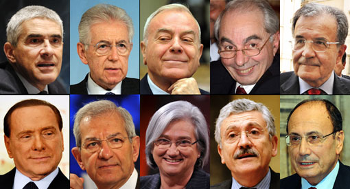 candidati alla carica di presidente della repubblica secondo L'espresso 6-marzo-2012 