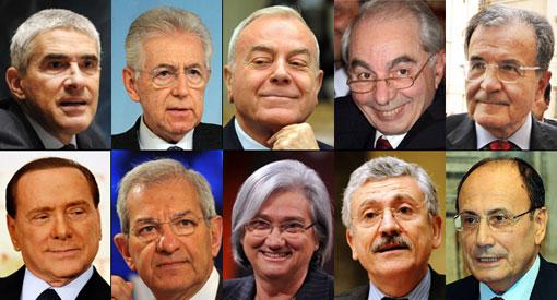 candidati alla carica di presidente della repubblica secondo L'espresso 6-marzo-2012