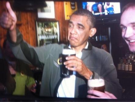 obama e la birra