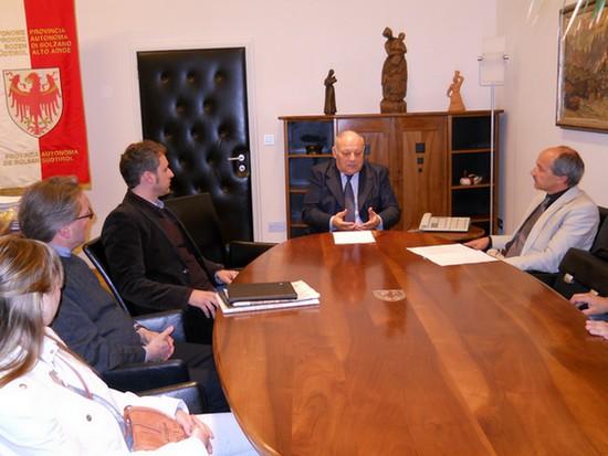 incontro fra il BARD Movimento Belluno Autonoma Regione DOlomiti ed il presidente del Südtirol Durnwalder