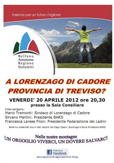 locandina incontro BARD a Lorenzago di Cadore