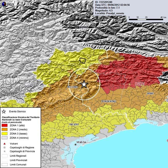 Classificazione sismica del territorio nazionale su base comunale