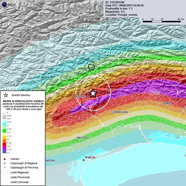 Mappa di pericolosità sismica (INGV)