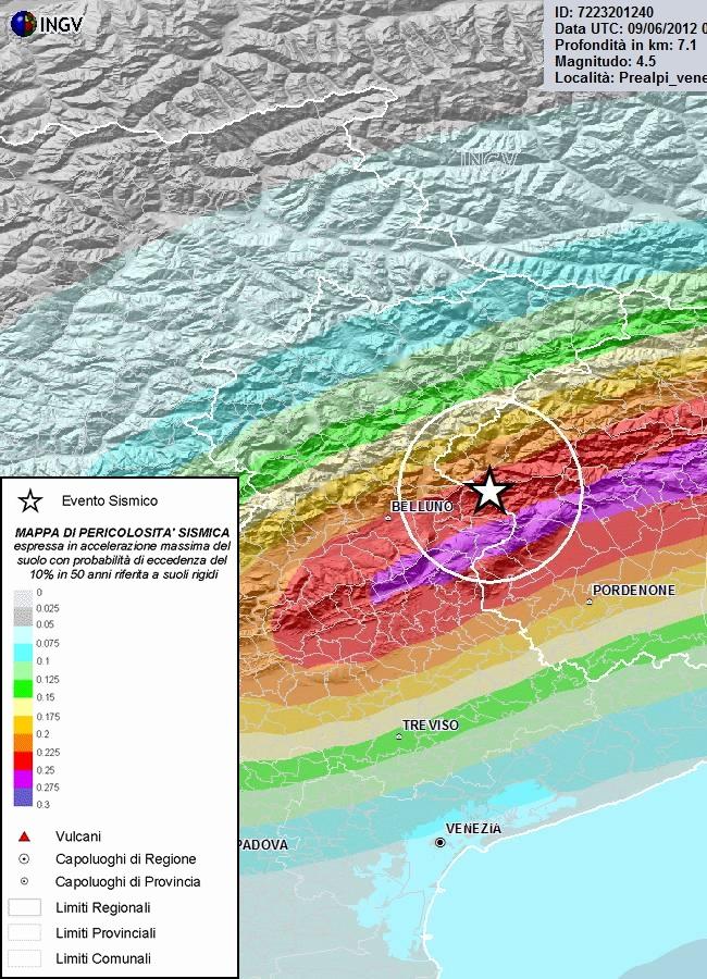 mappa-ingv terremoto PN-BL 09 giugno 2012