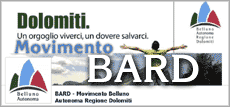 banner del BARD Movimento Belluno Autonoma Regione Dolomiti