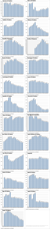 inforgrafica andamento demografico in Cadore dal 1871 al 2011