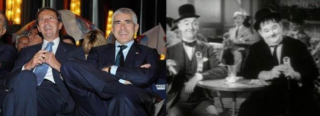 Fini e Casini, portaborse della Lista Monti