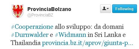 cooperazione allo sviluppo alla Prov. Autonoma di Bolzano