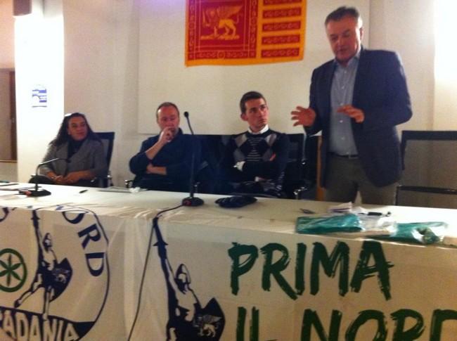 riunione a Lozzo di cadore per presentazione candidati Lega Nord (7 feb 2013)