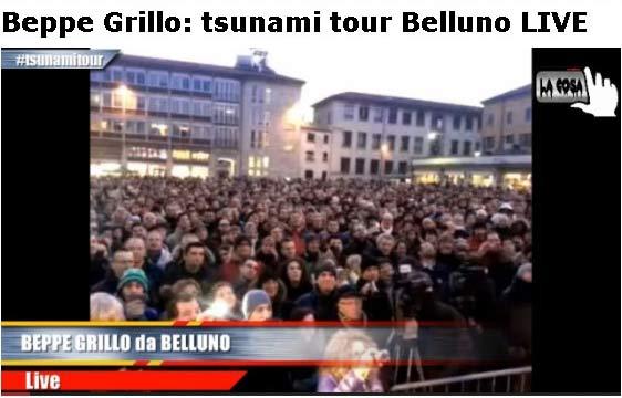 8 febbraio 2013 Movimento 5 Stelle a Belluno