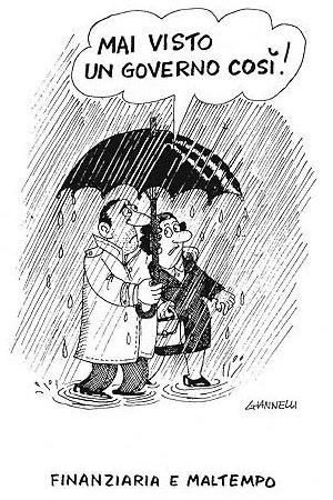 """vignetta Giannelli su """"Piove, Governo ladro"""""""