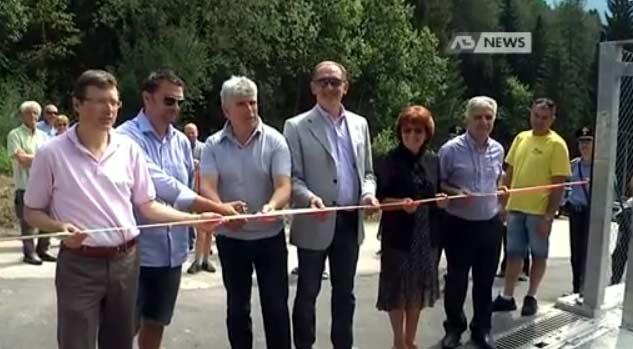"""un passo trionfale verso la civiltà """"rifiuti zero"""": inaugurazione ecocentro di Domegge"""