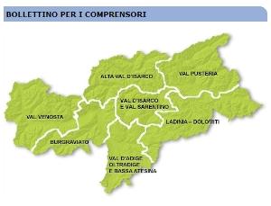 Servizio meteo in Alto Adige: il bollettino con il nuovo comprensorio Ladinia-Dolomiti