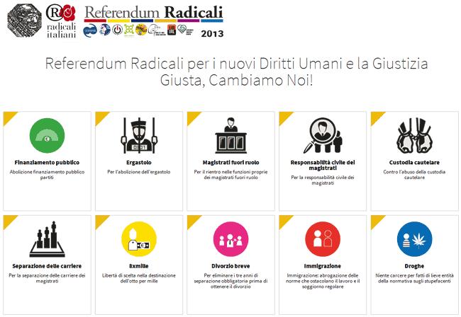 referendum radicali 2013