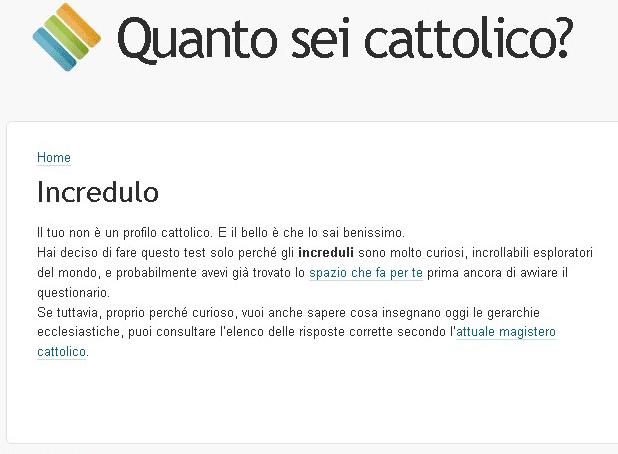 il tuo non è un profilo cattolico ...