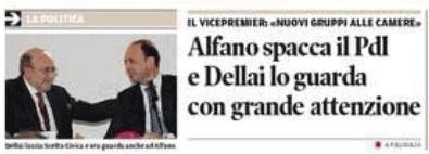 tratto da prima pagina del Trentino sabato 16 novembre 2013