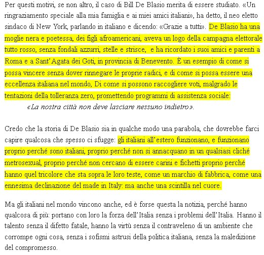 screen shot articolo de Linkiesta