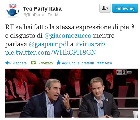 tweet Tea Party Italia (Zucco vs Gasparri)