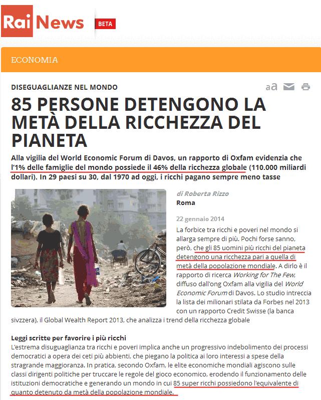 screenshot Rai News 22 gennaio 2014