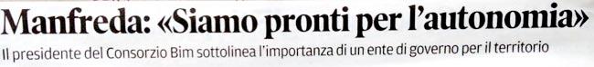 estratto dal Corriere delle Alpi del 4 febbraio 2014