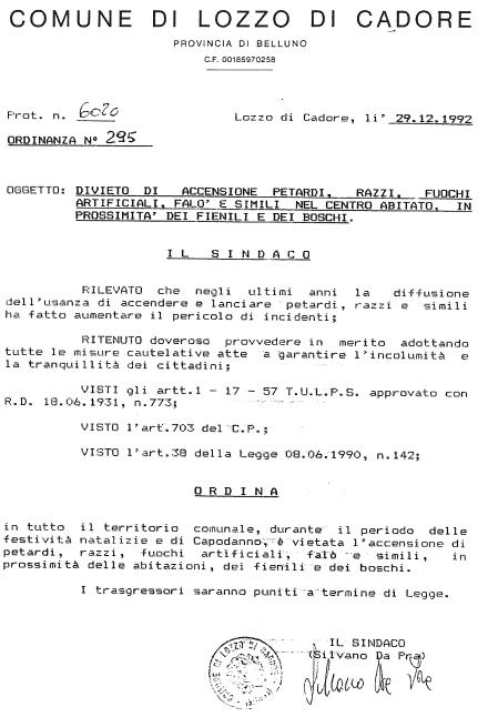 ordinanza295