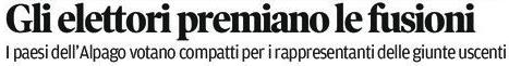 estratto dalla prima del Corriere delle Alpi del 7 giugno 2016