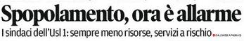 estratto da prima pagina corriere delle alpi 28-giugno-2016