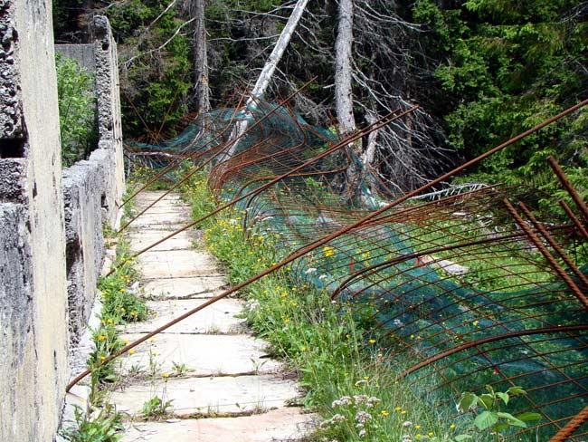 perimetrazione anti intrusione Forte Col Vidal: Villa del Capitano (02)