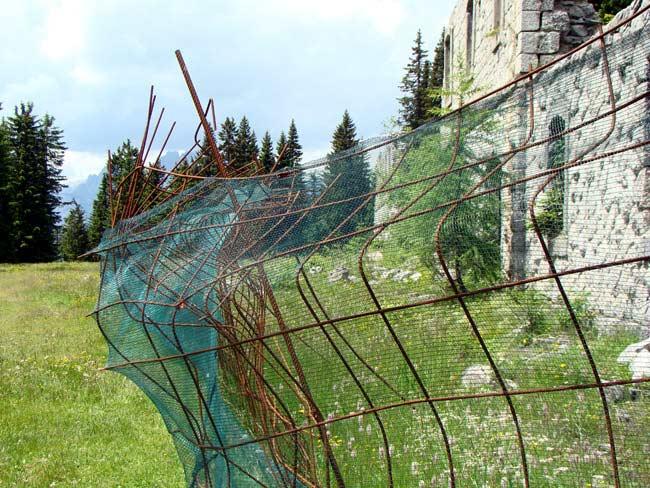 perimetrazione anti intrusione Forte Col Vidal: Forte Basso (01)