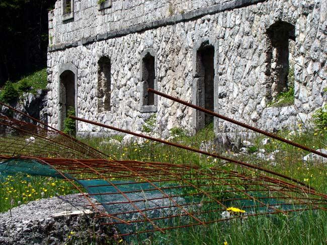 perimetrazione anti intrusione Forte Col Vidal: Forte Basso (02)
