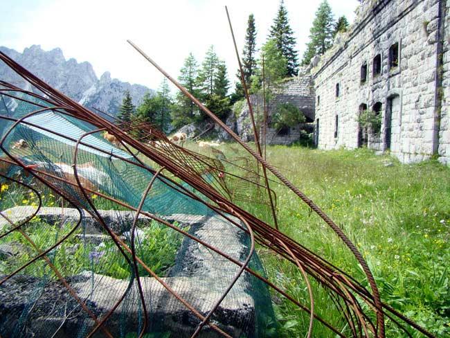 perimetrazione anti intrusione Forte Col Vidal: Forte Alto (03) - 05-luglio-2016