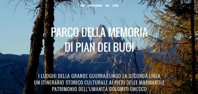 Parco della Memoria di Pian dei Buoi - pagina d'apertura