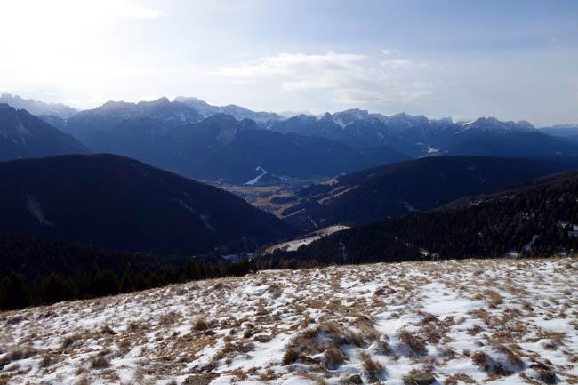 Panorama verso le Dolomiti dal rif. Bonner