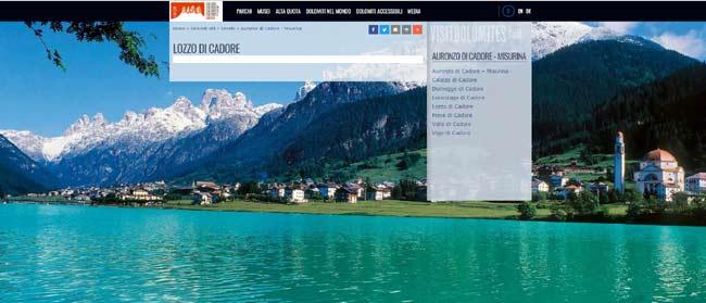 Lozzo sul sito visitdolomites.com (ci manca solo Toro Seduto...)