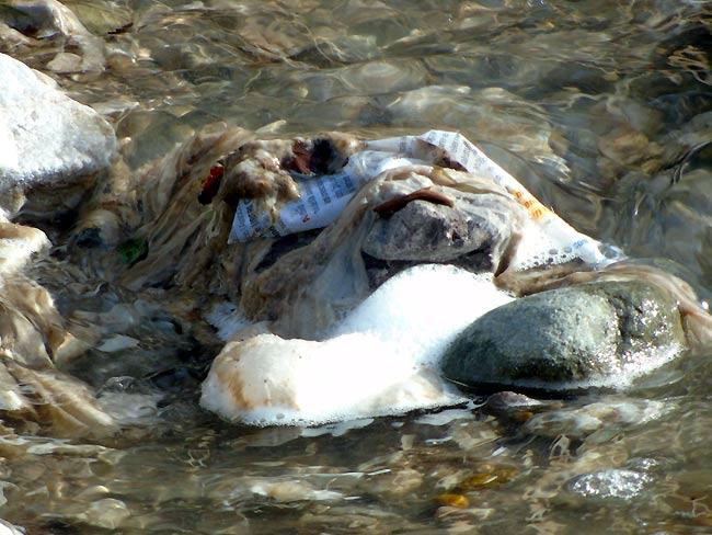 """""""dal tubo fognario esce acqua pressoché pulita"""", dicono alcuni... (foto 02)"""