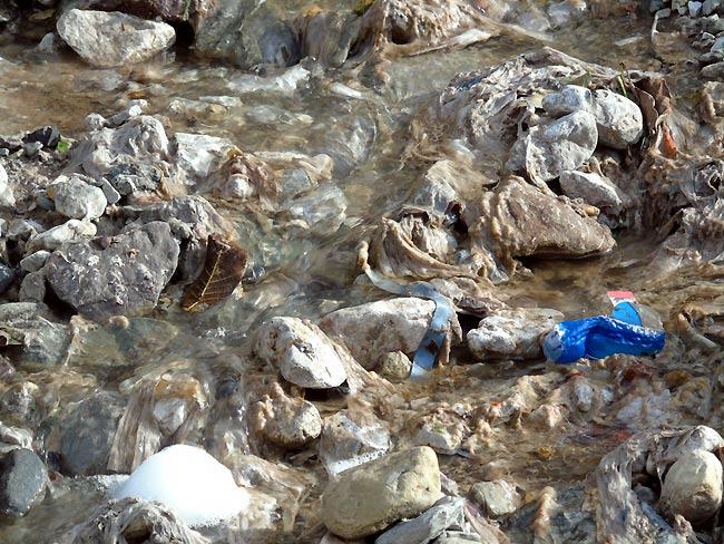 """""""dal tubo fognario esce acqua pressoché pulita"""", dicono alcuni... (foto 03)"""