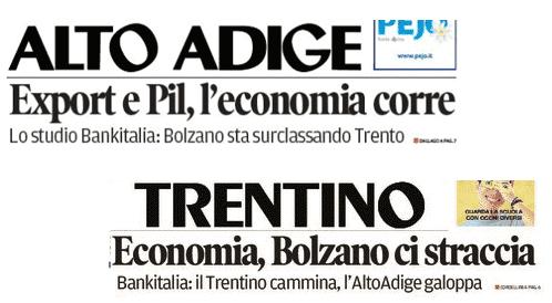 Tratto dalle prime pagine di Algto Adige e Trentino del 15 giugno 2017