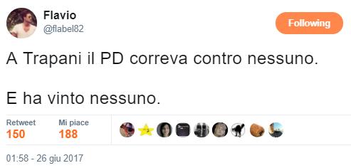 """""""A Trapani il PD correve contro nessuno. E ha vinto nessuno."""