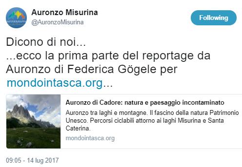 Auronzo-Misurina: dicono di noi...