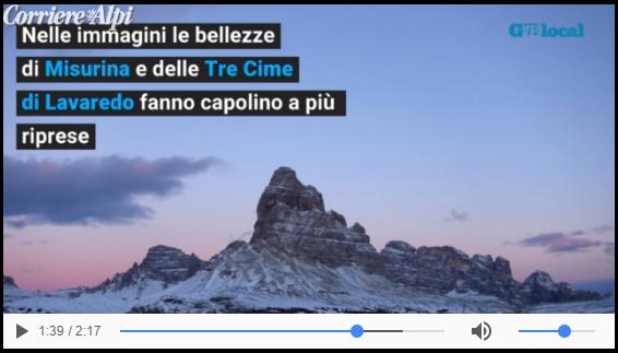 Frame da un video del Corriere delle ALpi (vedi testo dell'articolo)