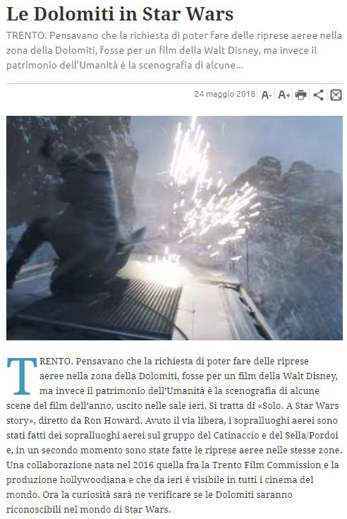 """tratto dal """"Trentino"""" (online) del 24 maggio 2018"""
