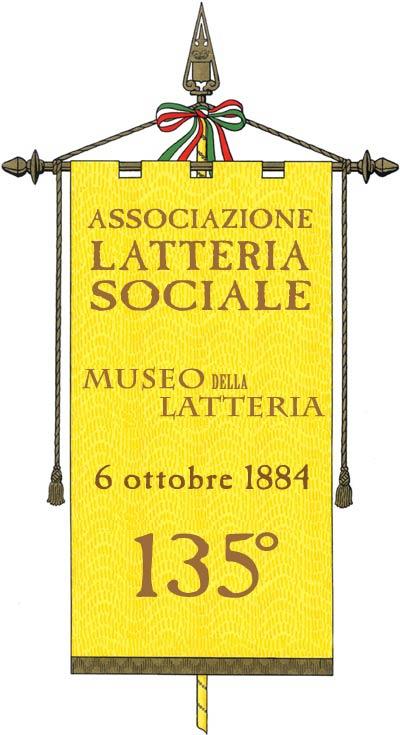 rappresentazione gonfalone per la celebrazione dei 135 anni di vita della Latteria Sociale