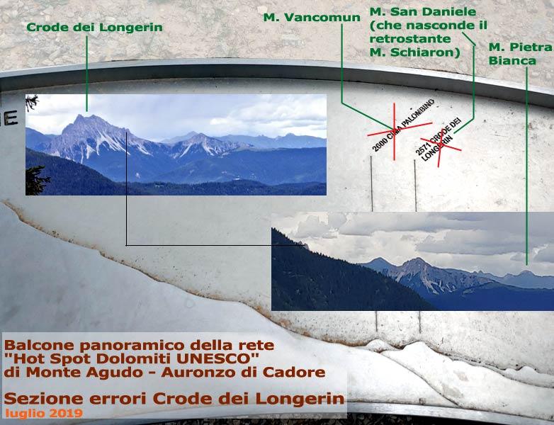 Balcone panoramico Dolomiti-Unesco di Monte Agudo: sezione errori Crode dei Longerin (14-07-2019)