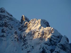 Particolare della cresta del Montanel